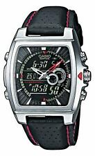 Casio Mens Edifice Chronograph Watch EFA-120L-1A1VEF Black Synthetic Leather F/S