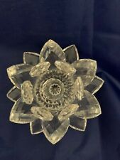 Vintage Swarovski Crystal Water Lily Lotus Flower Candleholder
