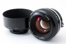 [ As-is ] Nikon NIKKOR 55mm f/1.2 Non-Ai Lens w/ Metal Lens Hood From Japan