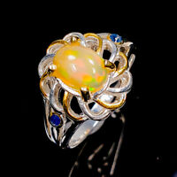 Opal Ring Silver 925 Sterling Classic Jewelry ring Size 6.75 /R146927