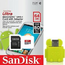 SanDisk 64GB microSD Ultra 80MB/s C10 64G micro SD XC SDSQUNC-064G +T06Y OTG