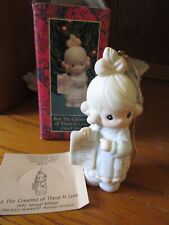 """Precious Moments """"But The Greatest Is Love"""" Figurine #527696 Ornament Box & Tag"""