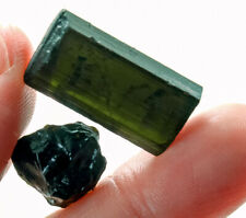 31.4Ct Natural Green Tourmaline Crystal Facet Rough Specimen YBGT1390