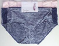 JESSICA SIMPSON Panties Briefs 1X 2 4 6 8 Pack Blue Pink Full Figure Hipster LOT