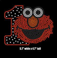 Elmo Sesame Street 1st Birthday iron on rhinestone transfer for shirt