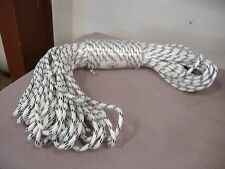 "Double Braid Polyester 3/8""x 150 feet roofers ladder lift rope halyard line"