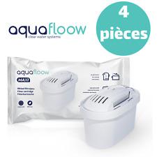 4 x AquaFloow Maxi Cartouche Filtrante pour Carafe compatible avec BRITA Maxtra