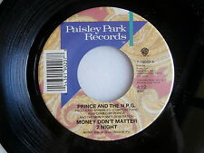 PRINCE ~ MONEY DON'T MATTER /  CALL THE LAW  ~ UNPLAYED STORE STOCK ~  FUNK  45