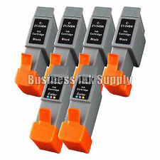 6 PK Ink Cart BCI-21 CANON BJC 2120 4100 4300 323 F 411