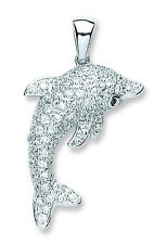 Dolphin Pendant Solid Sterling Silver