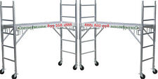 Two New Aluminum Scaffolding Rolling Towers with All Aluminum Deck & U Locks CBM