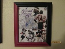 WALTER PAYTON SIGNED  & FRAMED HALL OF FAME 8X10 PHOTO BEARS RIP-PSA/DNA P40390