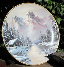 "Franklin Mint Heirloom Plate Limited Edition ""Peaceful Solitude"" 1992Fine Porce"