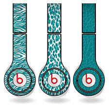 Removable Vinyl Decal - Beats Solo HD Skins - Teal Animal Print Set of 3
