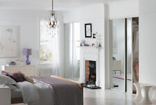 Sliding Wardrobe Doors (Mirrored x 2) & Storage. Up to 1193mm (3ft 11ins) wide