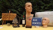 French Harley sport Mannequin Head Bust plaster Art Deco Steampunk mid century
