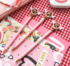 Card Captor Sakura Magic Star Wing Pink Ballpoint Pen School Stationery Gift New