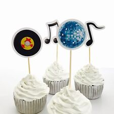 12x Disco Cupcake Topper Pick. *HANDMADE* Party Supplies Dance Lolly Loot Bag