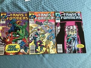 Lot of 12 Transformers MARVEL reader comics average grade VG