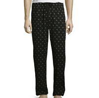 Stafford Mens Sleep Lounge Pajama Pants Classic Fit Black Dogs L-XL