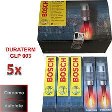 5x Bosch Glühkerze GLP003 0250202022 5 Zylinder Motoren Audi VW Skoda Volvo Opel