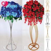 Metal Wire Flower Centerpiece Stand Vase Pillar Wedding Clear PVC Candle Holder
