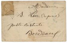 BALLON MONTE 1870 10c ETOILE 1 CARTE PÄRIS 3 OCTOBRE 1870 POUR BORDEAUX