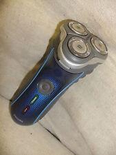 Shaver PHILIPS HQ7120 blue black stripe tactile grip sides PLUS lead, little use
