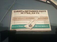 rarissime carnet montreuil bellay 7c cote 1300 euro amorce de separation visible