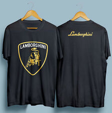 Lamborghini Car Sport Logo Front & Back Men's T-Shirt Size S to XXL