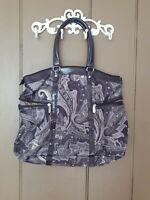Jessica Simpson Tote/Travel Bag  Nylon Laptop Bag-Purple