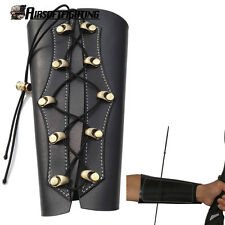 Black PU Leather Shooting Archery Bow Target Arm Guard Protection Hunting