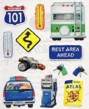 Creative Memories Block Sticker MOTORHOME, KEYS, PETROL, HIGHWAY, ROADTRIP