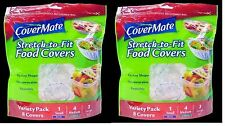 2 Pack - CoverMate® Strech-to-Fit Food Covers, Assorted (Small, Med. & Large)