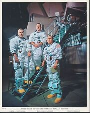 Apollo 8 Crew Pticure (2) Signed By Borman Commander Space Shuttle Cover Bt8083