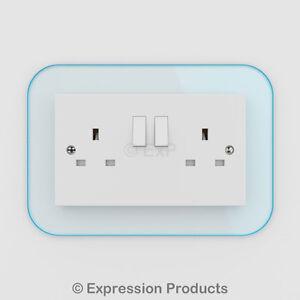 Double / Single Light Switch / Plug Socket Back Plate Finger Surround Panel 002