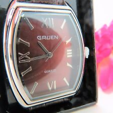 Men's Gruen watch w/ brown face F3241141 / MZB  Leather Band NIB