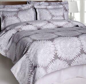 "Belle Epoque Burst Coverlet Bedspread Full Size 86x92"" Gray ~ Shams Not Included"