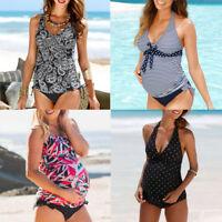 Pregnant Maternity Swimwear Women Floral Swimsuit Bathing Suit Beachwear AU