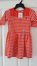 BRAND NEW Carters Girls Orange/White Stripe Dress Age 2