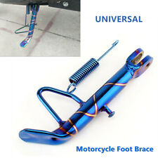 Universal Motorcycle Scooter Frame Kickstand Foot Brace Side Stand Leg Prop CNC