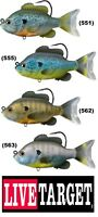 Live Target Swimbaits Bluegill Pumpkinseed Sunfish SFS Soft Any Color Size