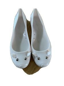 Marc Jacobs Shoes Size 40 Women White Jelly The Mouse Cat Flats Slip On