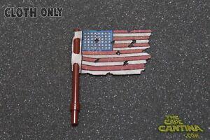 For LEGO Custom Flag WW2 World War 2 American Torn Ripped Flag Custom Cape Cloth