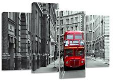 London bus bank , split canvas prints