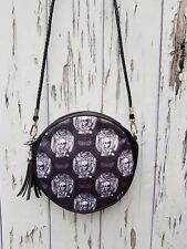 Skull & Bat Gothic Handbag - Lace Halloween Black Bag Clutch