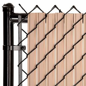 Chain Link Beige SoliTube™ Max-Privacy Slat For 8-ft Fence Bottom Lock