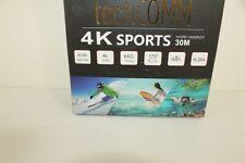 TechComm SPH10 Water Resistant 4K 16MP Action Camera SD Slot Black