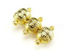 6 Magnetic Clasp Converters - Deco Drum Style - Gold Color - Necklace Bracelet