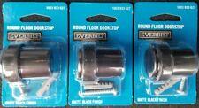 LOT OF 3! Everbilt Matte Black Round Floor Door Stop Made of steel FREE SHIPPING